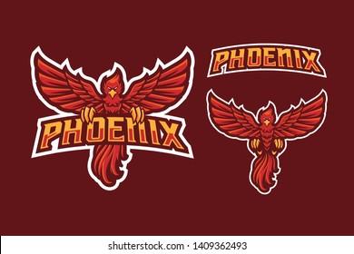 Phoenix E-Sport Style Mascot Logo