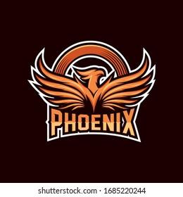 phoenix esports logo vector template