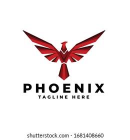 Phoenix Fire Bird Mitologi Logo