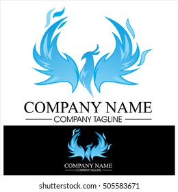 Phoenix Flame Logo - Blue Version