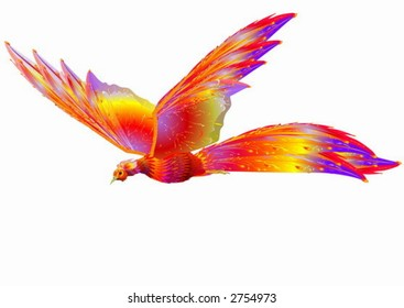 Phoenix in flight