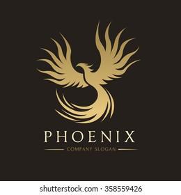 Phoenix Gold Luxury Logo Template