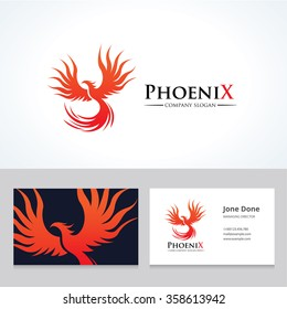 Phoenix Logo and Business Card Template