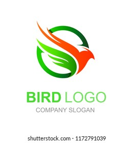 phoenix logo, circular shape and modern look
