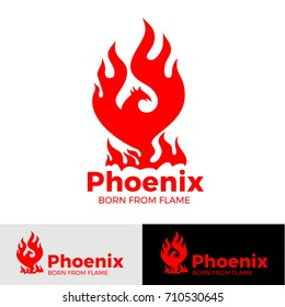 Phoenix LOGO - creative logo of the mythological bird