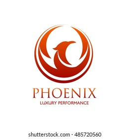 Phoenix logo design template. Vector Illustration