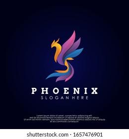 Phoenix Logo Design Vector Template. Modern Design. Phoenix Logo. Vector Illustration