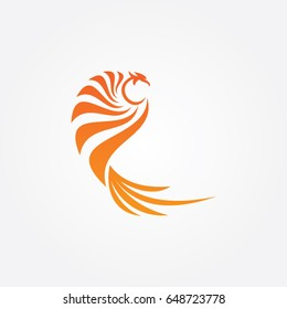 phoenix logo, icon flying