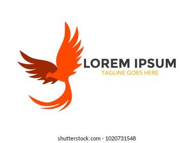 phoenix logo. icon. vector illustration. simple and editable