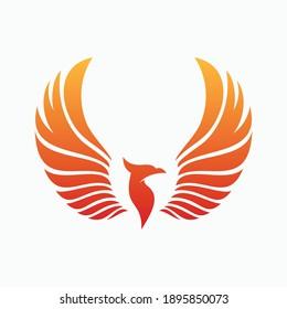 phoenix logo icon vector illustration template