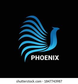 Phoenix logo icon vector template.