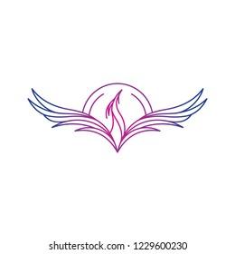 phoenix logo logo symbol graphic designer vector illustration