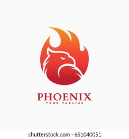 Phoenix logo template design on a white background. Vector illustration.