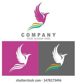 phoenix logo template, eagle logo vector,  tail icon with colorful, eagle logo with colorful
