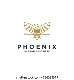 Phoenix logo template vector illustration