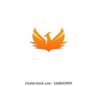 Phoenix logo vector icon design bird