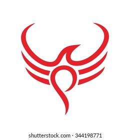 phoenix logo vector. logo template.
