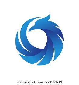 phoenix logo vector template