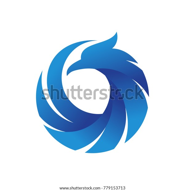 Phoenix Logo Vector Template Stock Vector (Royalty Free