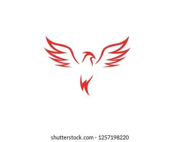 Phoenix Logo vector wings
