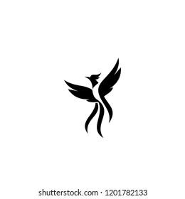 phoenix simple logo icon designs vector