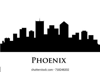 phoenix skyline vector