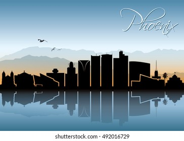 Phoenix skyline - vector illustration