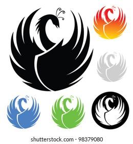 phoenix symbol - vector