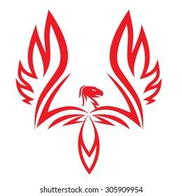 Phoenix tattoo vector