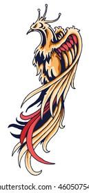 phoenix tattoo vector illustration