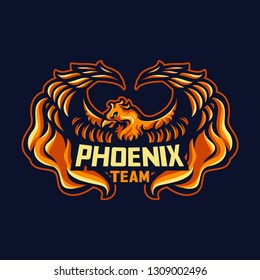 Phoenix Team -Mascot & E-sport Logo - All elements on this template are editable with vector software
