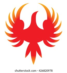 Phoenix - vector icon of legendary bird from Greek mythology