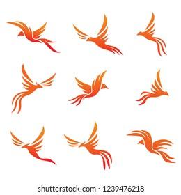 phoenix vector icon set