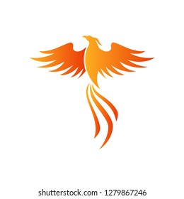 Phoenix Vector Illustration - Vector EPS 10 White Isolated