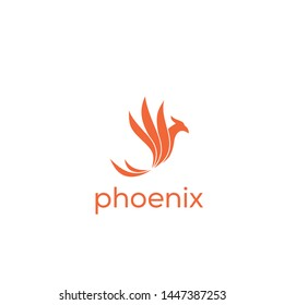 phoenix vector logo graphic abstract template download