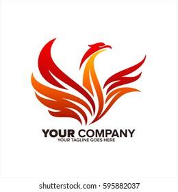 phoenix vector logo icon