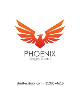 Phoenix Wings Logo Template
