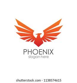 Phoenix Wings Logo in vector