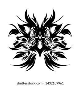 Phoenix,design abstrack phoenik,bird.illustration animal, batik.culture indonesia traditional.