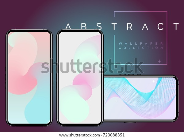 Phone Abstract Fluid Vector Wallpapers Pastel Stock