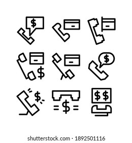 Phone Banking icon or logo isolated sign symbol vector illustration - Collection of high quality black style vector icons