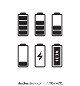 Phone Battery Charging, isolate on white background, vector, illustration.