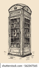 phone box in London over white background