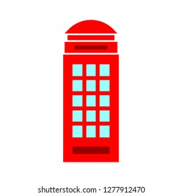 phone cabine icon - phone cabine isolated, phone kiosk illustration - Vector phone cabine