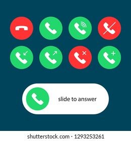 Phone Call icon pack. line stroke
