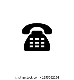 phone call icon vector. phone call vector graphic illustration