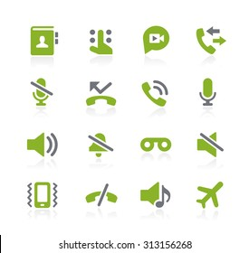 Phone Call Interface Icons // Natura Series
