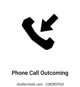 Phone Call Outcoming icon vector isolated on white background, logo concept of Phone Call Outcoming sign on transparent background, filled black symbol