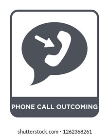 phone call outcoming icon vector on white background, phone call outcoming trendy filled icons from Ultimate glyphicons collection, phone call outcoming simple element illustration