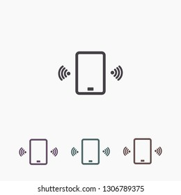 Phone calls vector icon